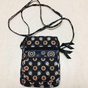 Vera Bradley owl floral small messenger side bag